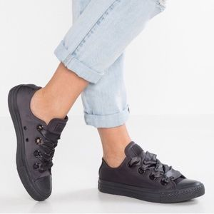 Converse Black Leather Low Top Casual Sneak